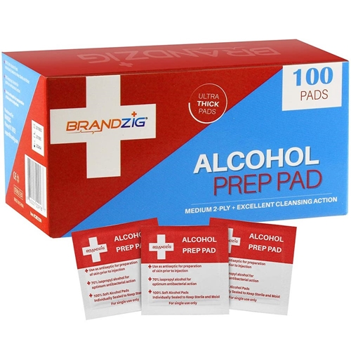 Brandzig ALCOHOL PREP PAD WIPES 100 count cmd2594 Preview Image