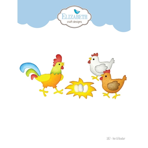 Elizabeth Craft Designs HEN AND ROOSTER Dies 1857 Preview Image