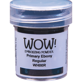 WOW Embossing Powder PRIMARY EBONY Regualr Large Jar WHOORL