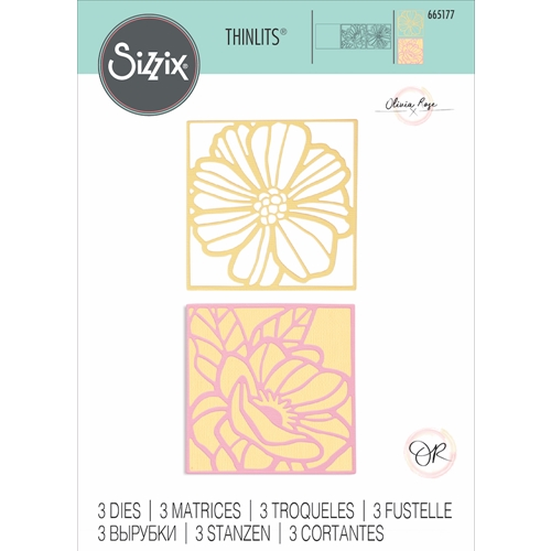 Sizzix FLORAL CARD FRONTS Thinlits Dies 665177* Preview Image