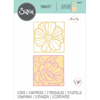 Sizzix FLORAL CARD FRONTS Thinlits Dies 665177