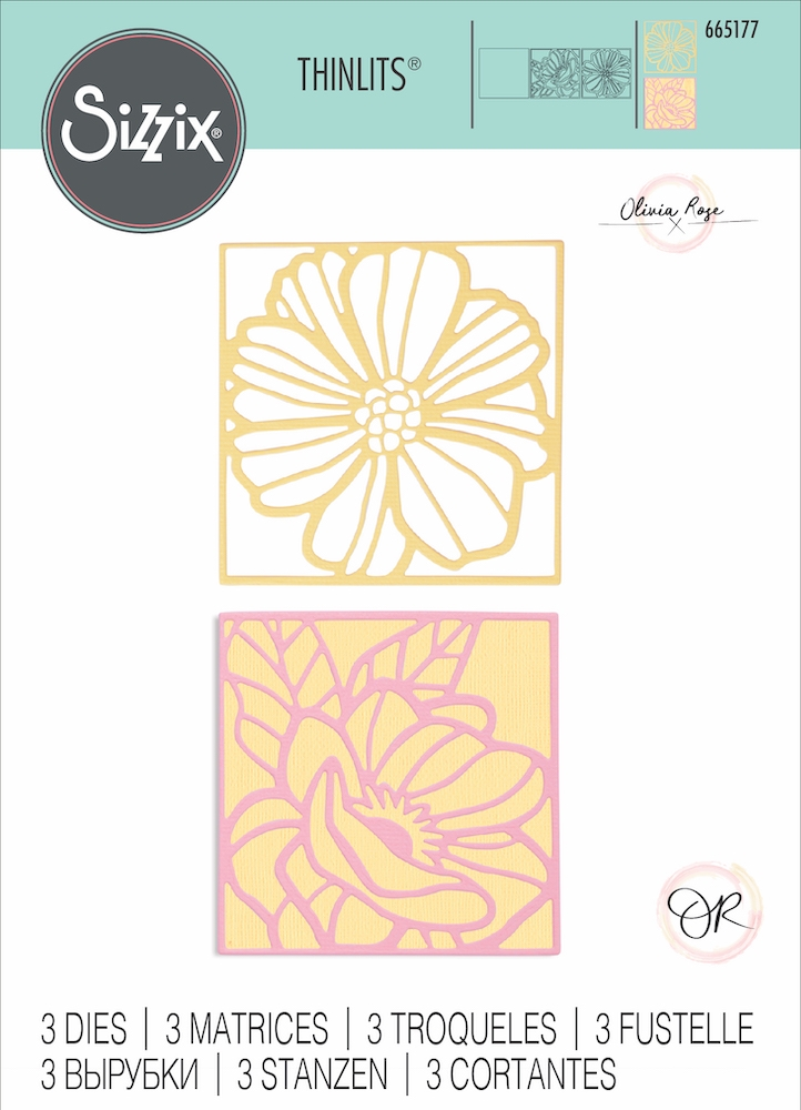 Sizzix FLORAL CARD FRONTS Thinlits Dies 665177* zoom image