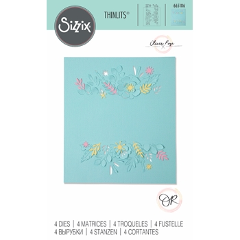 Sizzix FLORAL BORDERS Thinlits Dies 665186