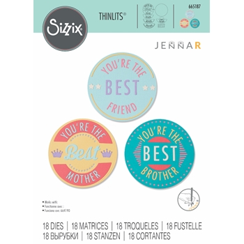 Sizzix YOU'RE THE BEST Thinlits Dies 665187