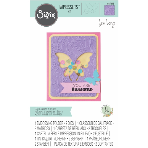 Sizzix BUTTERFLY MEADOW Impresslits Cut and Emboss Folder 665200 Preview Image