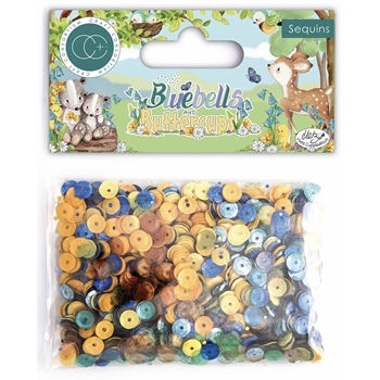 Craft Consortium BLUEBELLS AND BUTTERCUPS Sequin Pack CCSQN003