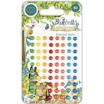 Craft Consortium BLUEBELLS AND BUTTERCUPS Adhesive Enamel Dots CCADOT012