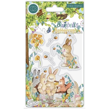 Craft Consortium BLUEBELLS AND BUTTERCUPS BENCH Clear Stamps CCSTMP059