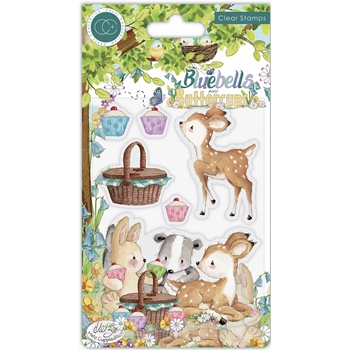 Craft Consortium BLUEBELLS AND BUTTERCUPS PICNIC Clear Stamps CCSTMP057