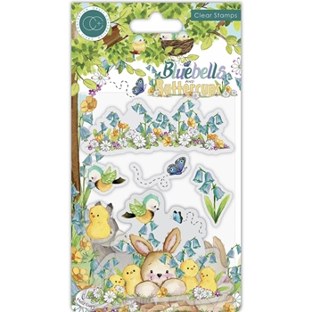 Craft Consortium BLUEBELLS AND BUTTERCUPS CHICKS Clear Stamps CCSTMP056