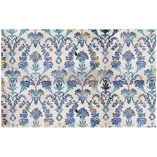 Prima Marketing COBALT FLOURISH ReDesign Decoupage Tissue 652340 Preview Image