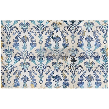 Prima Marketing COBALT FLOURISH ReDesign Decoupage Tissue 652340