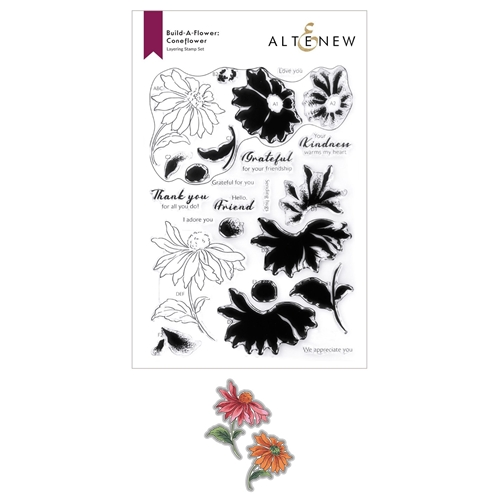 Altenew Build a Flower CONEFLOWER Clear Stamp and Die Bundle ALT6011 Preview Image