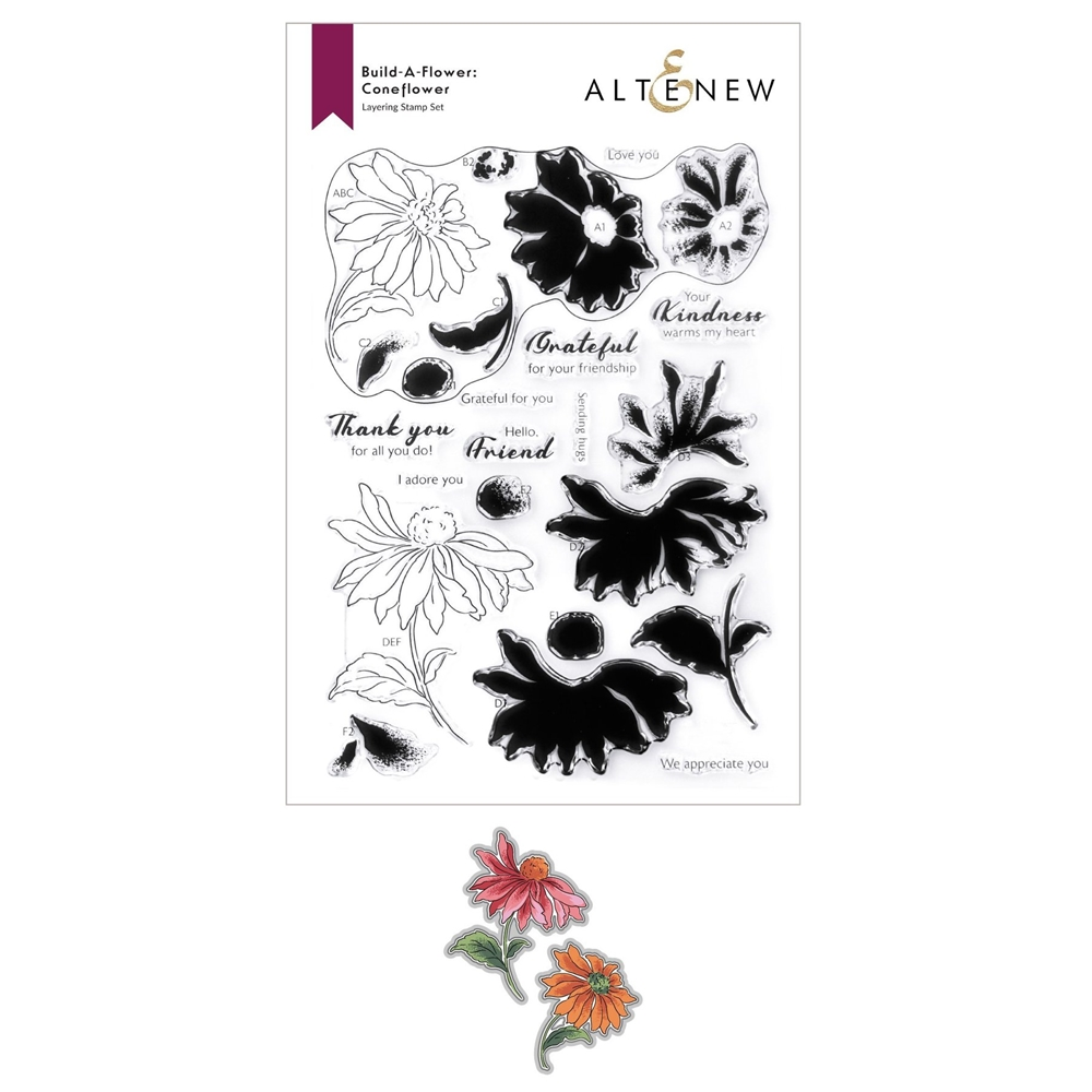Altenew Build a Flower CONEFLOWER Clear Stamp and Die Bundle ALT6011 zoom image