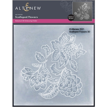 Altenew SCALLOPED FLOWERS 3D Embossing Folder ALT6054