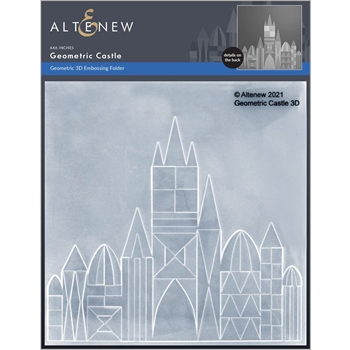 Altenew GEOMETRIC CASTLE 3D Embossing Folder ALT6053