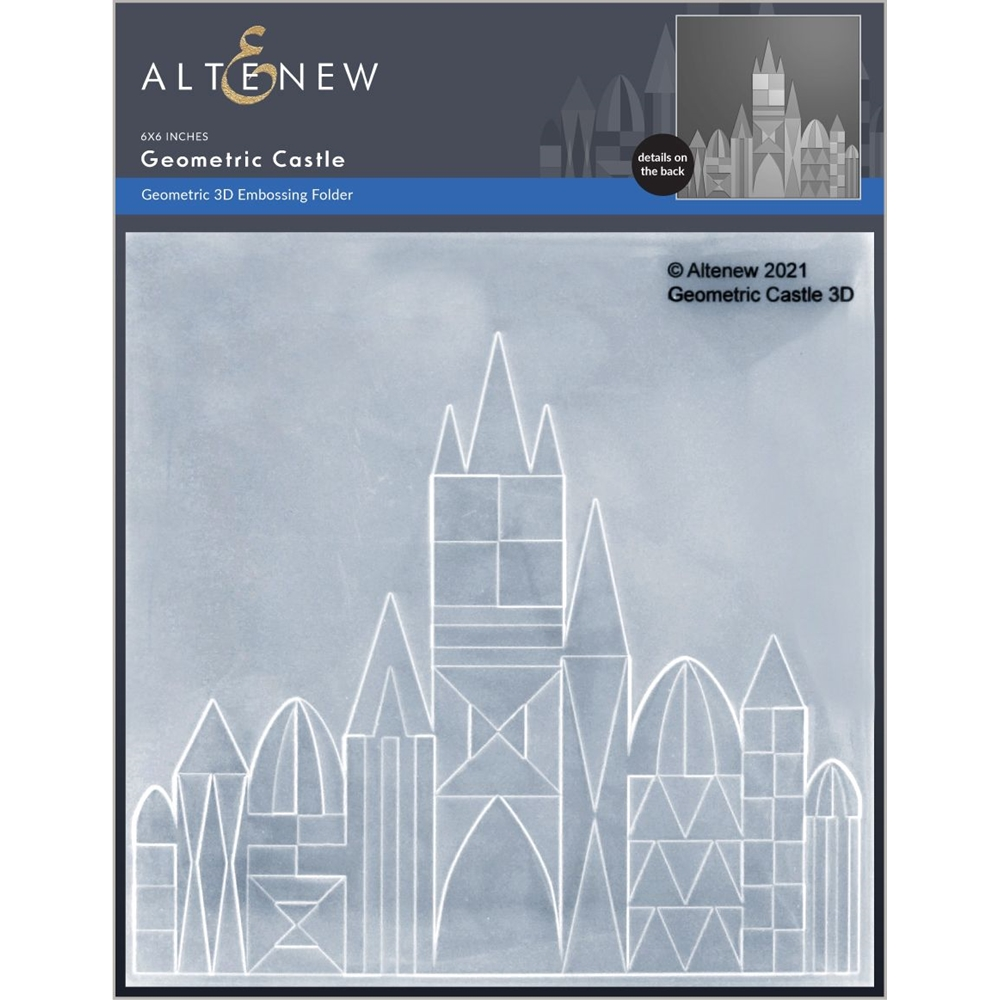 Altenew GEOMETRIC CASTLE 3D Embossing Folder ALT6053 zoom image
