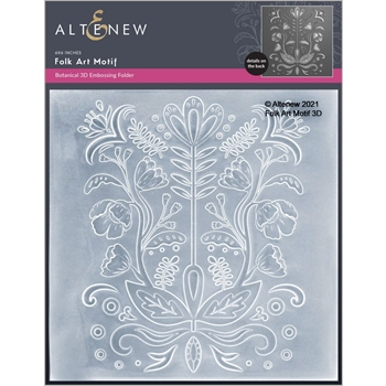 Altenew FOLK ART MOTIF 3D Embossing Folder ALT6052