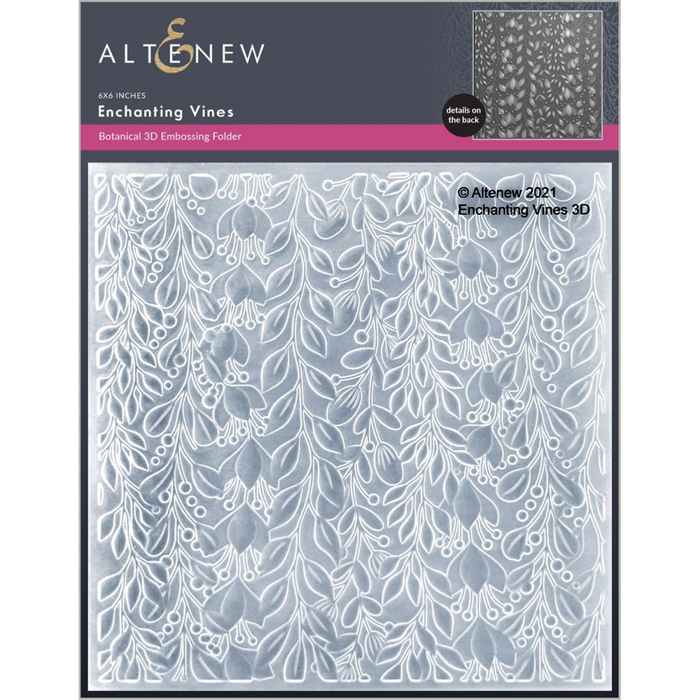 Altenew ENCHANTING VINES 3D Embossing Folder ALT6051 zoom image