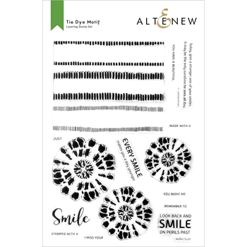 Altenew TIE DIE MOTIF Clear Stamps ALT6048