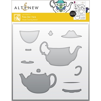 Altenew TEA FOR TWO Simple Coloring Stencils ALT6045