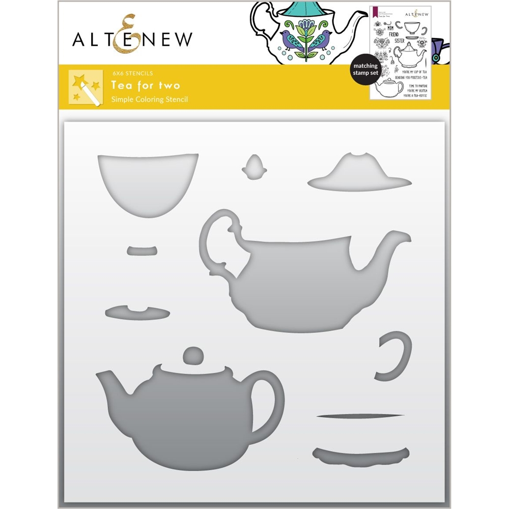 Altenew TEA FOR TWO Simple Coloring Stencils ALT6045 zoom image
