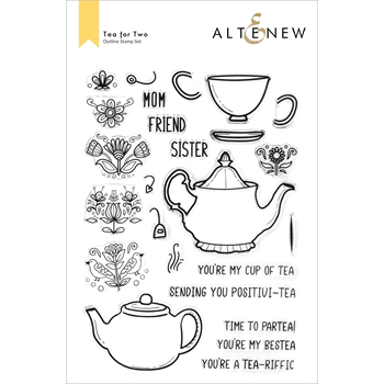Altenew TEA FOR TWO Clear Stamps ALT6043