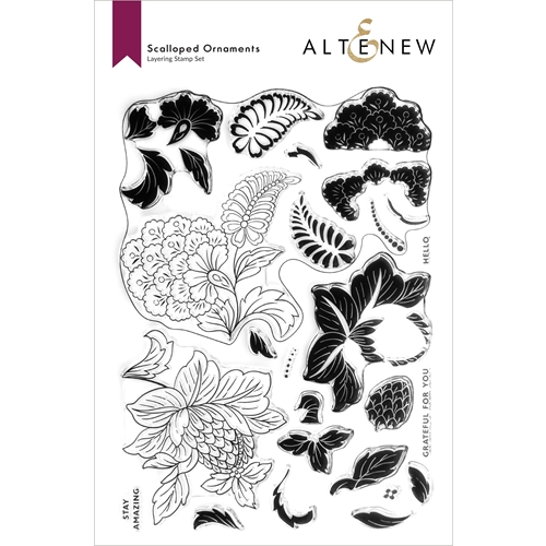Altenew SCALLOPED ORNAMENTS Clear Stamps ALT6038 Preview Image