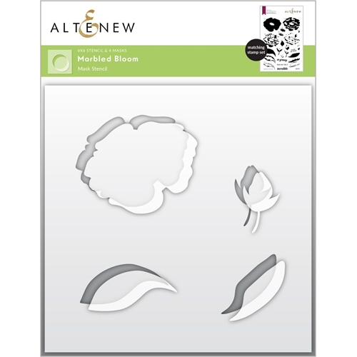 Altenew MARBLED BLOOM Masked Stencil ALT6035 Preview Image