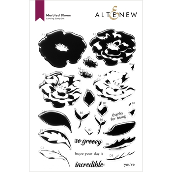 Altenew MARBLED BLOOM Clear Stamps ALT6033