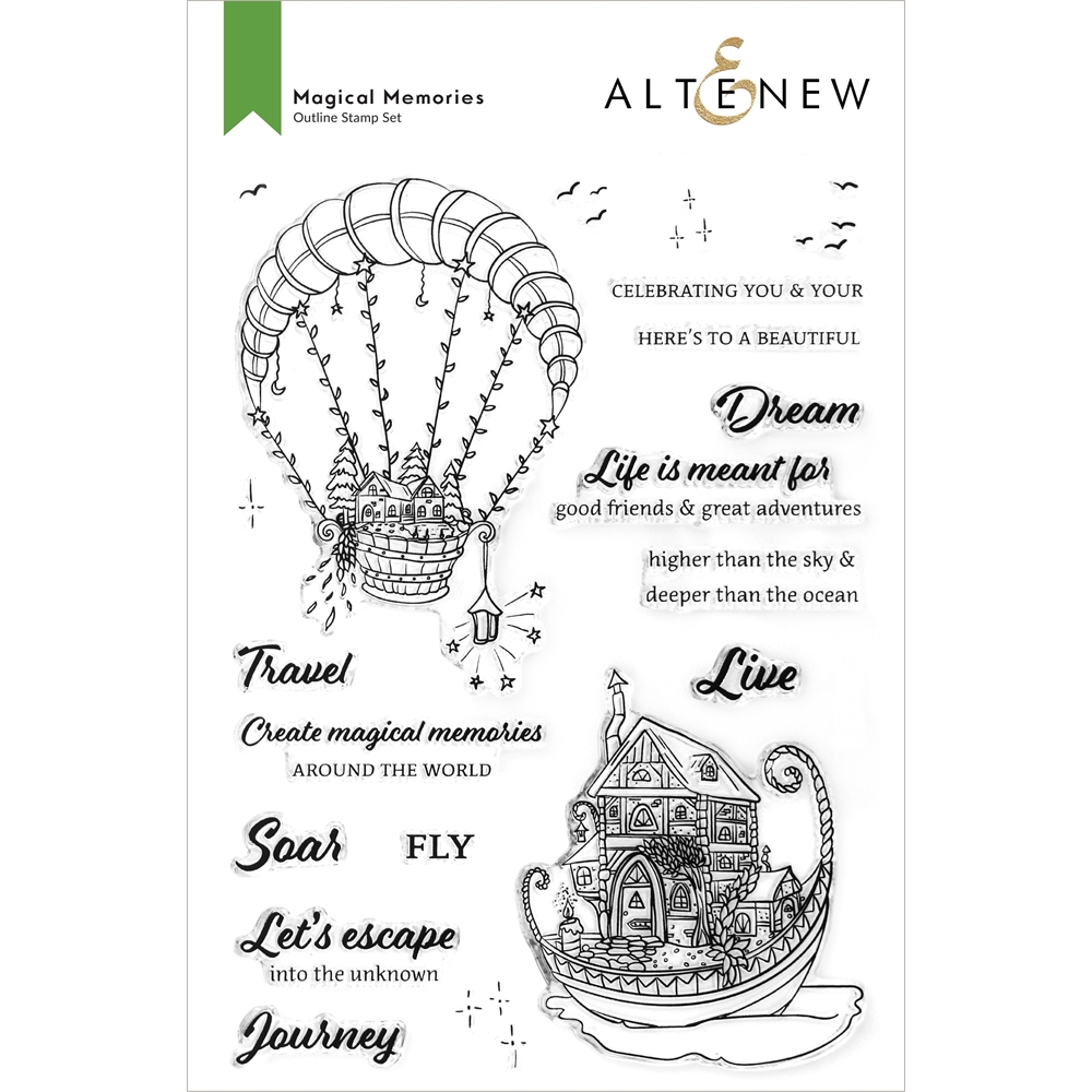 Altenew MAGICAL MEMORIES Clear Stamps ALT6030 zoom image