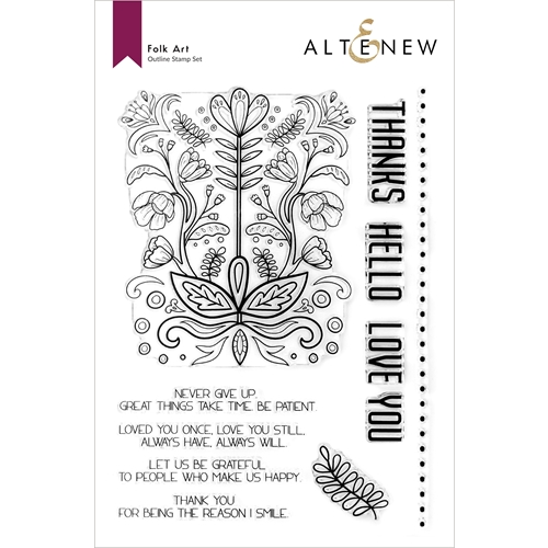 Altenew FOLK ART Clear Stamps ALT6027 Preview Image