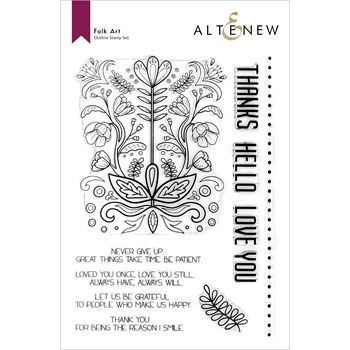 Altenew FOLK ART Clear Stamps ALT6027