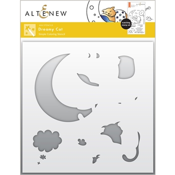 Altenew DREAMY CAT Simple Coloring Stencils ALT6024