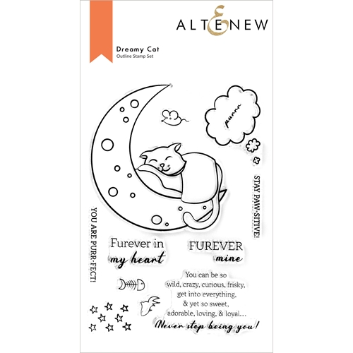 Altenew DREAMY CAT Clear Stamps ALT6022 Preview Image