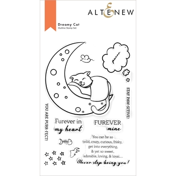 Altenew DREAMY CAT Clear Stamps ALT6022