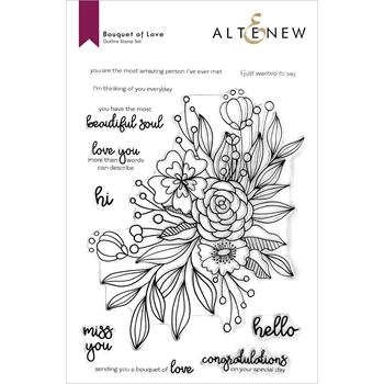 Altenew BOUQUET OF LOVE Clear Stamps ALT6019