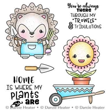 Darcie's HEDGEHOG GARDEN Clear Stamp Set pol495