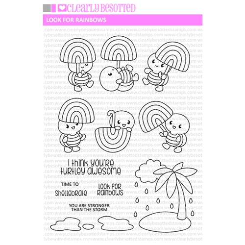 Clearly Besotted LOOK FOR RAINBOWS Clear Stamps Preview Image