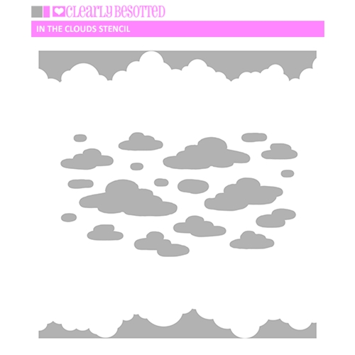 Clearly Besotted IN THE CLOUDS Stencil CBTIN074 Preview Image