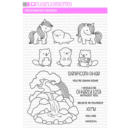 Clearly Besotted FRESHWATER FRIENDS Clear Stamps CBSFR070 Preview Image