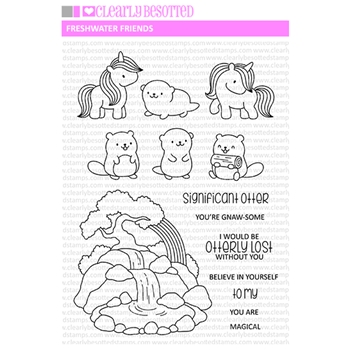 Clearly Besotted FRESHWATER FRIENDS Clear Stamps CBSFR070