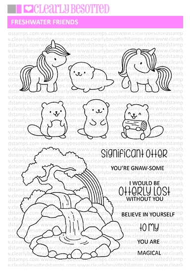Clearly Besotted FRESHWATER FRIENDS Clear Stamps CBSFR070 zoom image