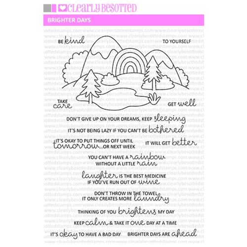 Clearly Besotted BRIGHTER DAYS Clear Stamps  Preview Image