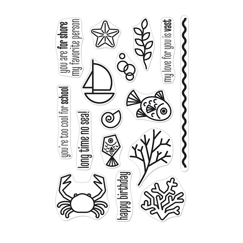 Hero Arts Clear Stamps GRAPHIC REEF CM526 Preview Image