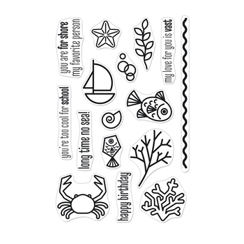 Hero Arts Clear Stamps GRAPHIC REEF CM526