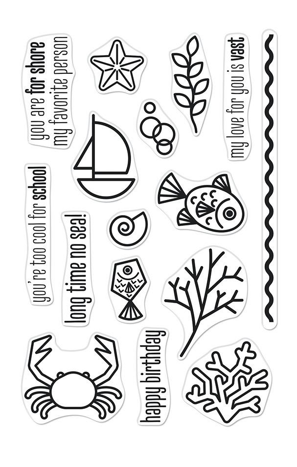 Hero Arts Clear Stamps GRAPHIC REEF CM526 zoom image