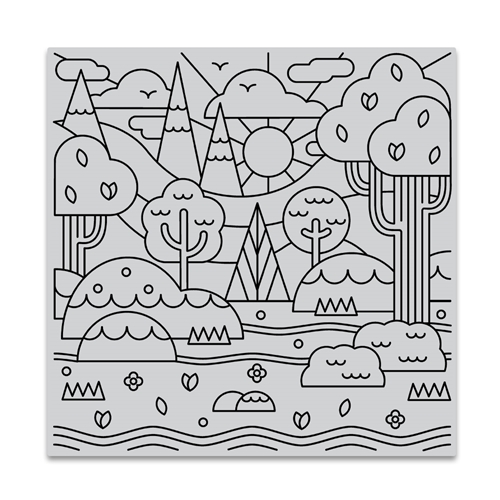 Hero Arts Cling Stamp FOREST SHAPES BOLD PRINTS CG842 Preview Image
