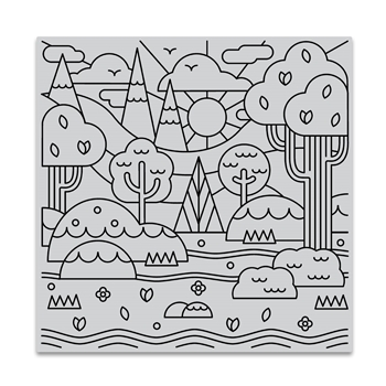 Hero Arts Cling Stamp FOREST SHAPES BOLD PRINTS CG842