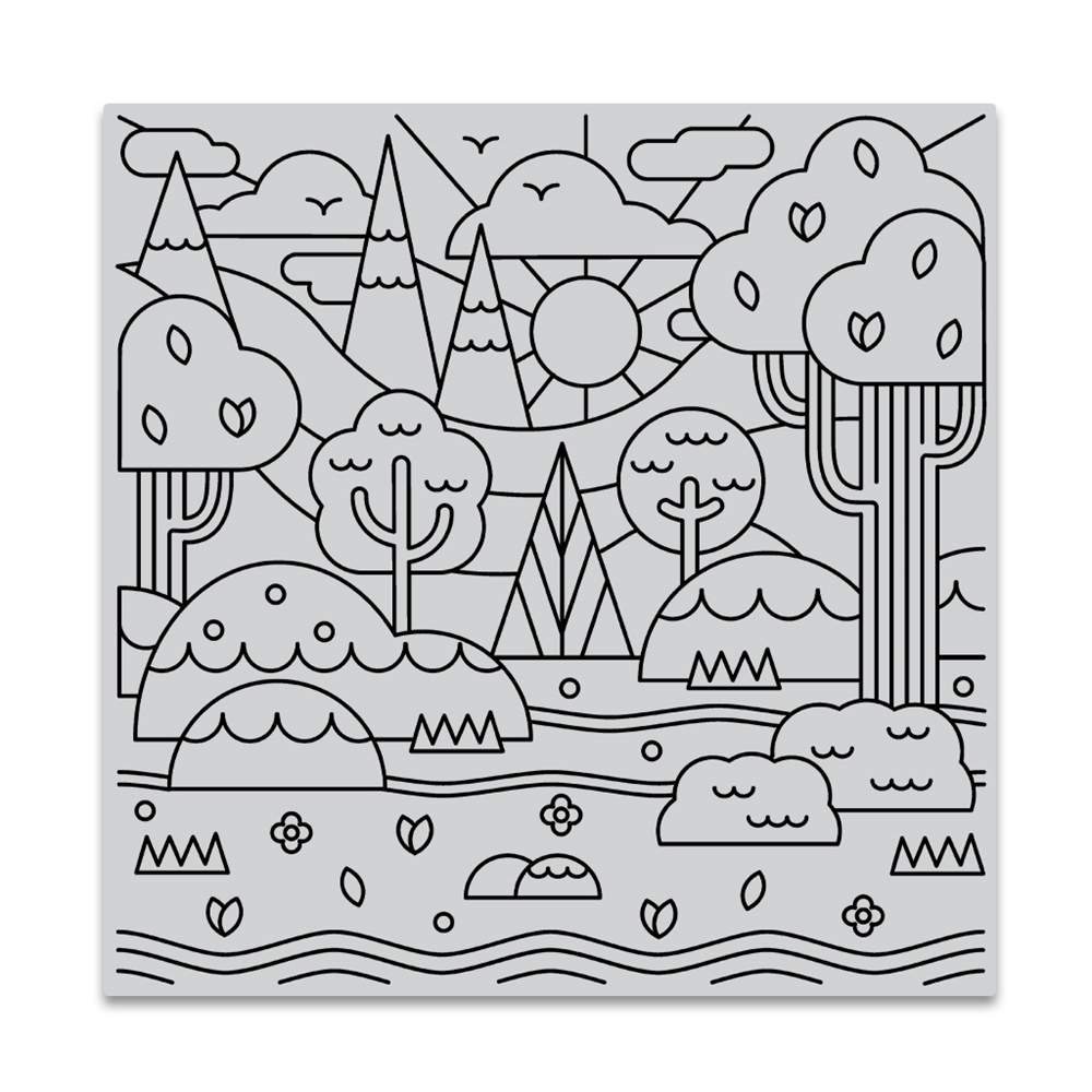 Hero Arts Cling Stamp FOREST SHAPES BOLD PRINTS CG842 zoom image
